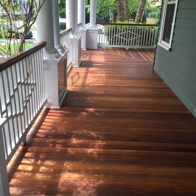 Mahogany Flooring Deck Staining
