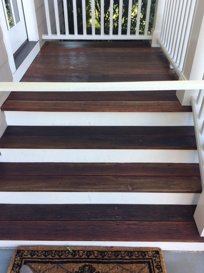 Mahogany Flooring Power Washed, Cleaned & Oiled